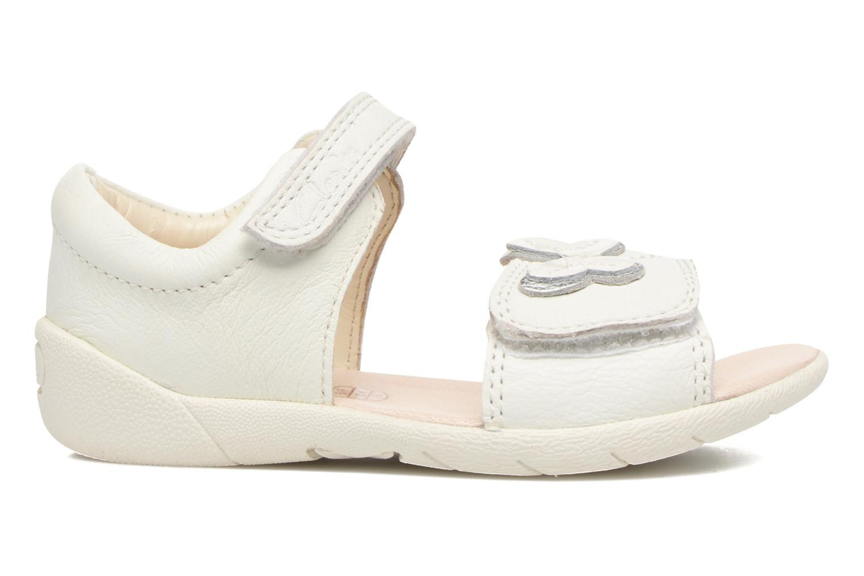 Sandales et nu-pieds Clarks Kiani Sun Fst Blanc vue derrière