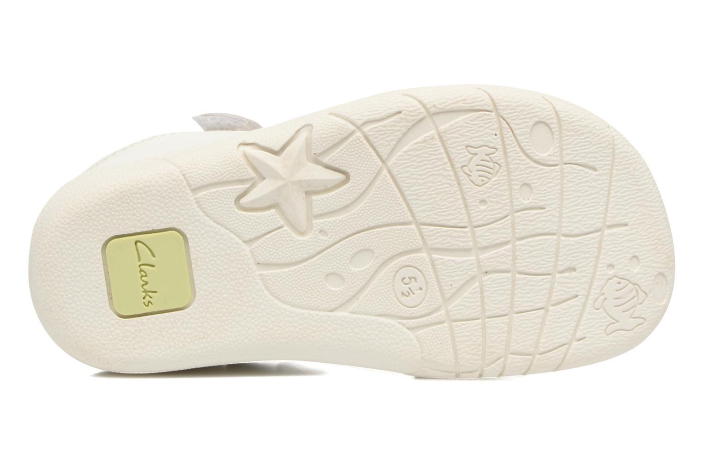 Sandales et nu-pieds Clarks Kiani Sun Fst Blanc vue haut