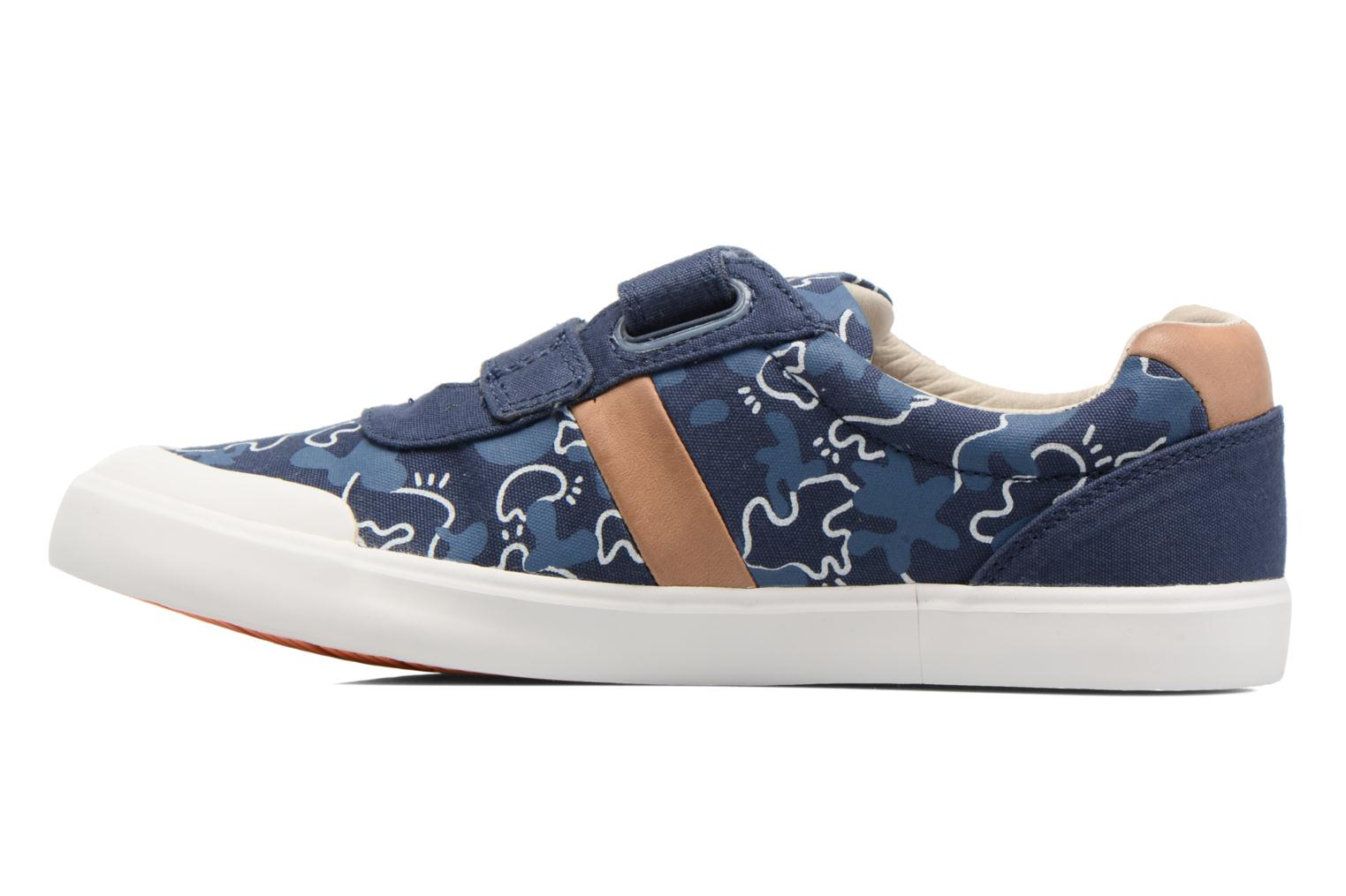 Baskets Clarks Comic Zone Jnr Bleu vue face