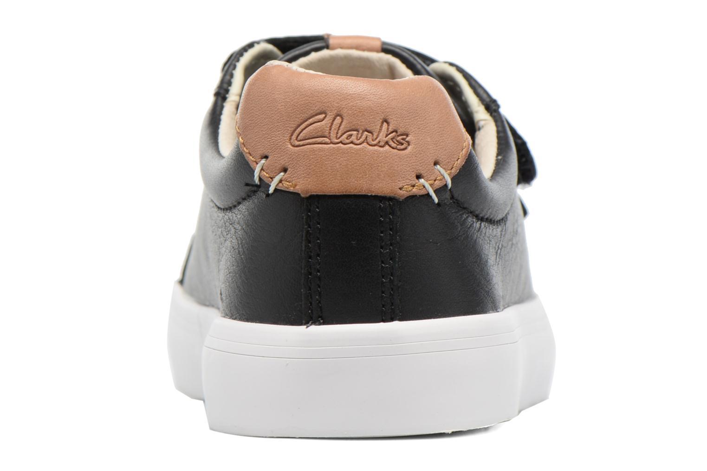 Baskets Clarks Brill Rap Noir vue droite