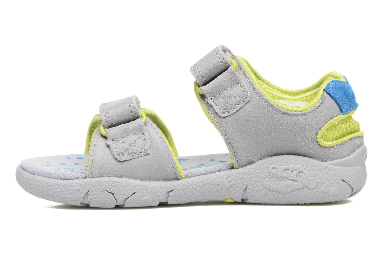 Sandales et nu-pieds Clarks TyranoWalk Inf Gris vue face