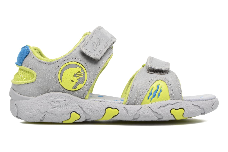 Sandales et nu-pieds Clarks TyranoWalk Inf Gris vue derrière