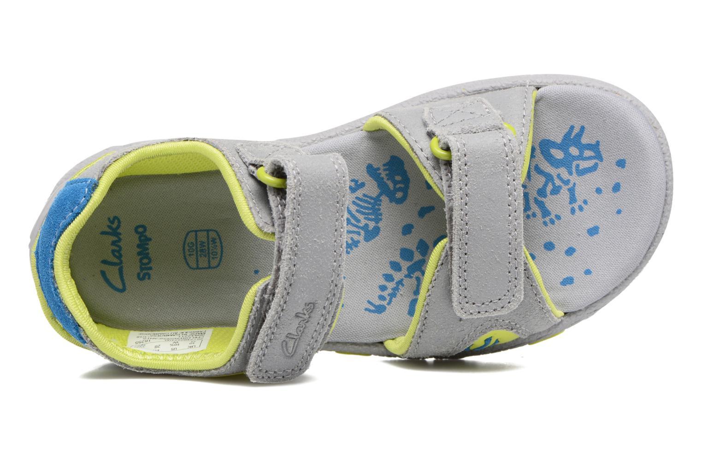Sandales et nu-pieds Clarks TyranoWalk Inf Gris vue gauche