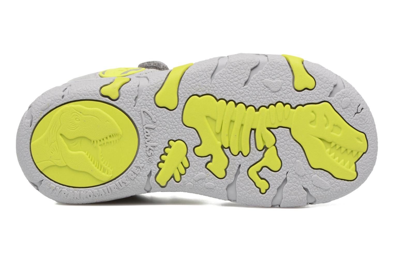 Sandales et nu-pieds Clarks TyranoWalk Inf Gris vue haut
