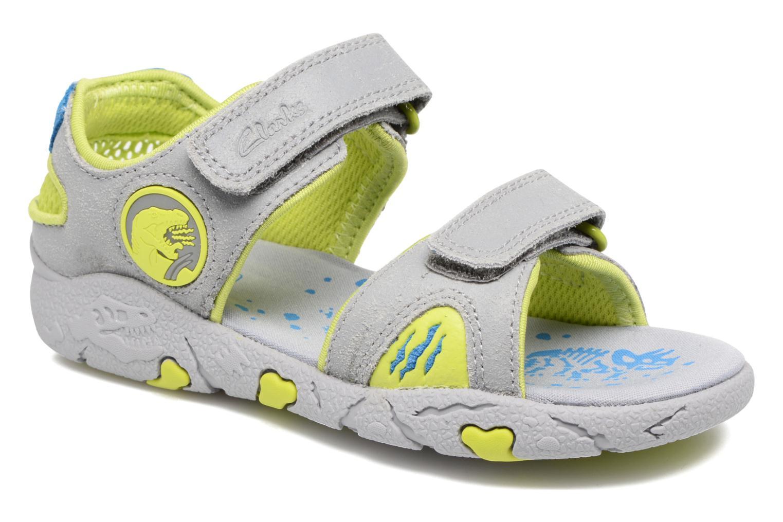 Sandales et nu-pieds Clarks TyranoWalk Inf Gris vue détail/paire