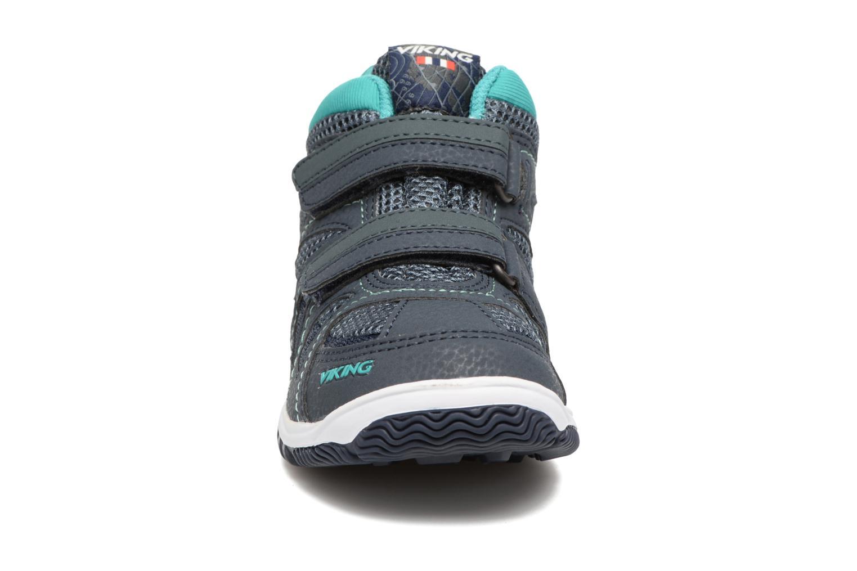 Chaussures de sport Viking Cascade 2 mid GTX Bleu vue portées chaussures