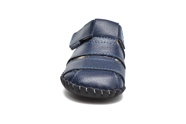 Chaussons Pediped Ross Bleu vue portées chaussures