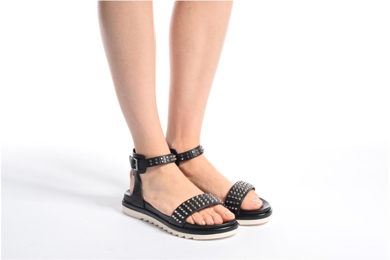 Sandales et nu-pieds Armani Jeans Carla Noir vue bas / vue portée sac