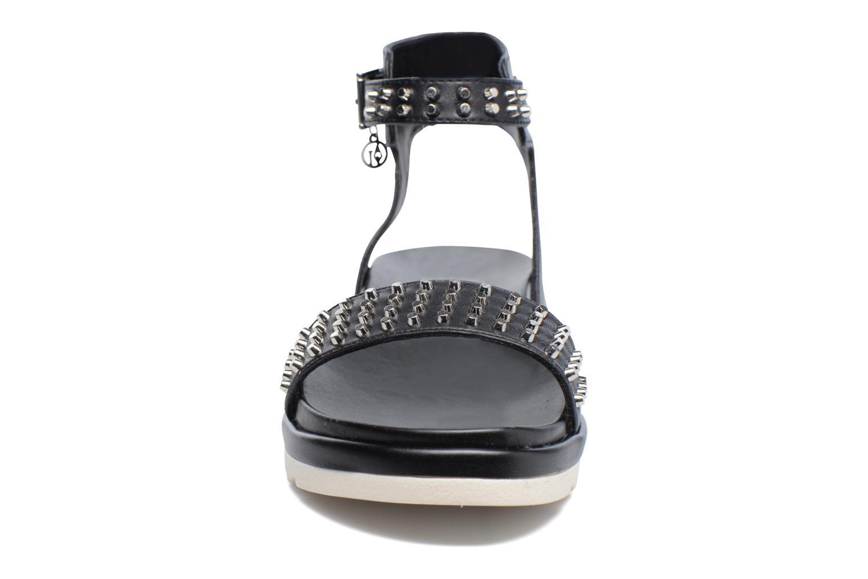 Sandales et nu-pieds Armani Jeans Carla Noir vue portées chaussures