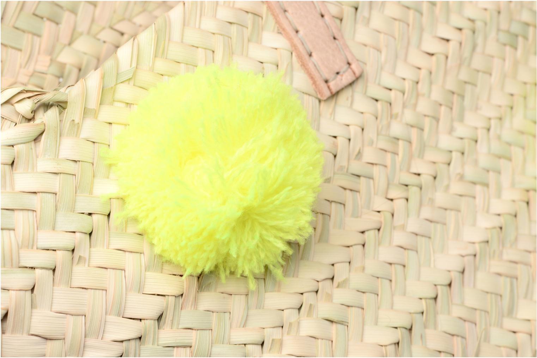 Panier artisanal Pompom Jaune Fluo Jaune Fluo
