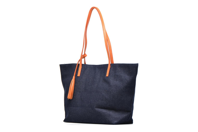 Shopper Denim/clémentine