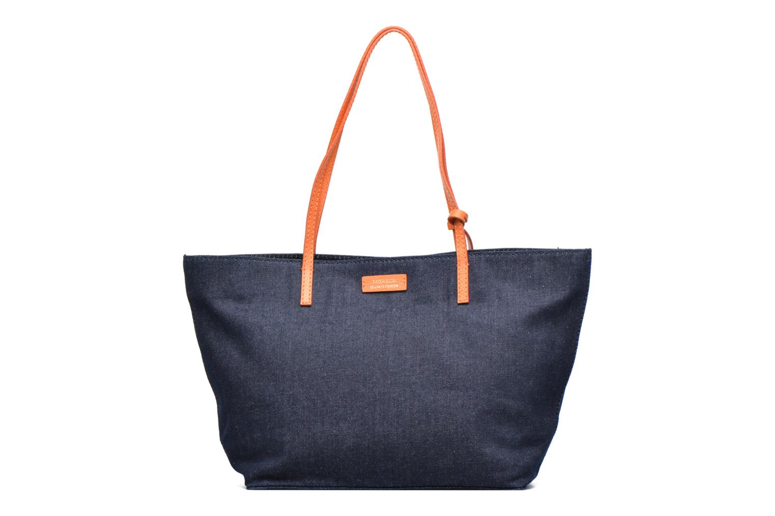 Shopper Denim/clémentine