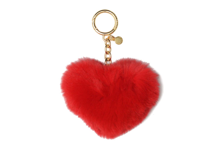 POM POMS HEART POM POM Bright red