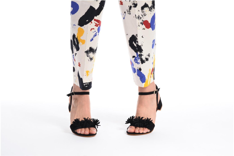 Sandales et nu-pieds Made by SARENZA Frida Banana #16 Noir vue bas / vue portée sac