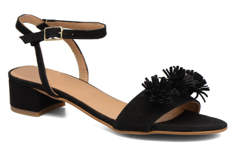 Sandales et nu-pieds Made by SARENZA Frida Banana #16 Noir vue droite