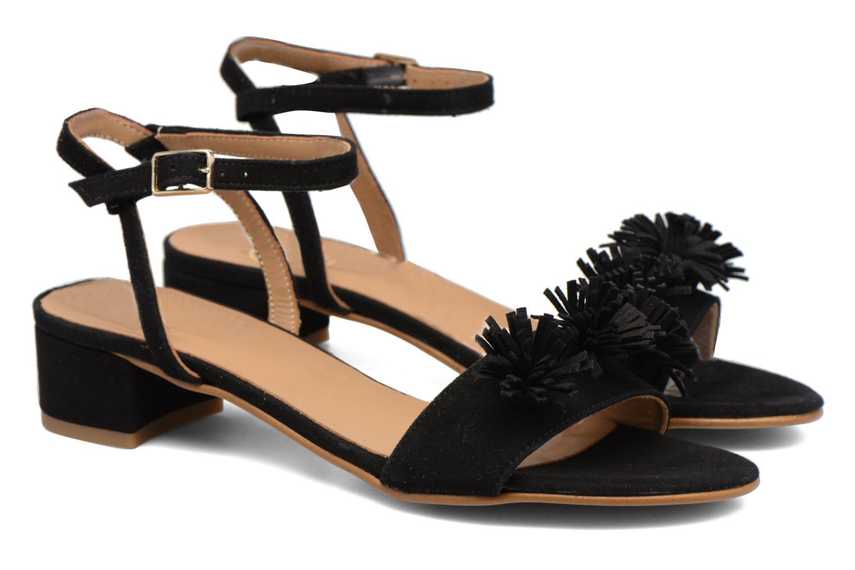Sandales et nu-pieds Made by SARENZA Frida Banana #16 Noir vue derrière