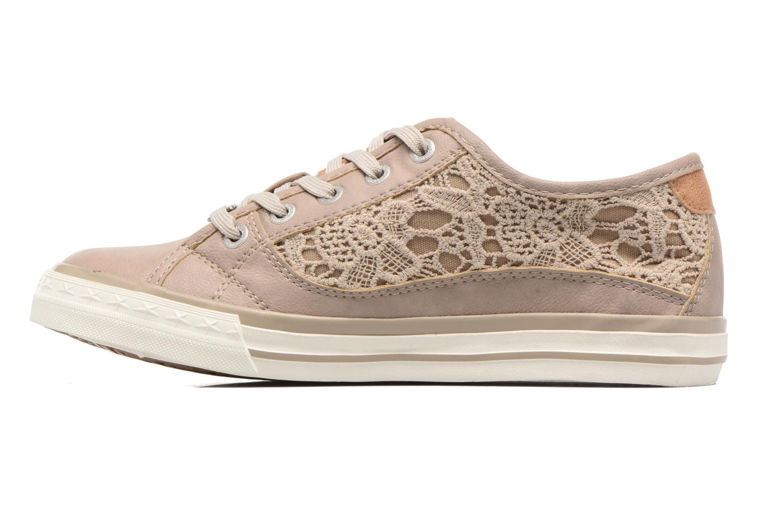 Baskets Mustang shoes Smith N Beige vue face