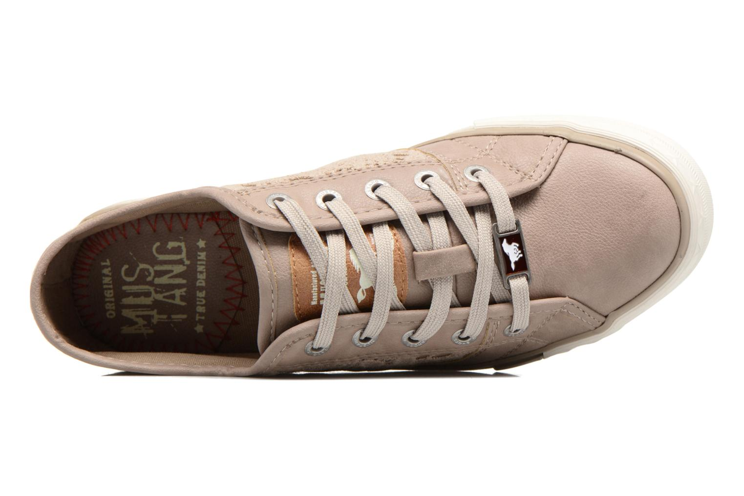 Baskets Mustang shoes Smith N Beige vue gauche