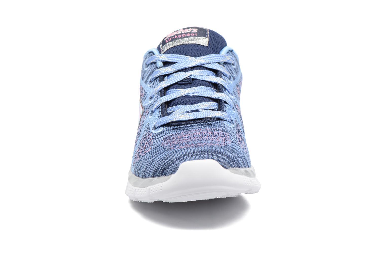 Sneaker Skechers Air-Appeal Glitztastic blau schuhe getragen