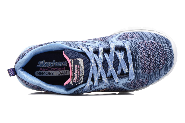 Sneaker Skechers Air-Appeal Glitztastic blau ansicht von links
