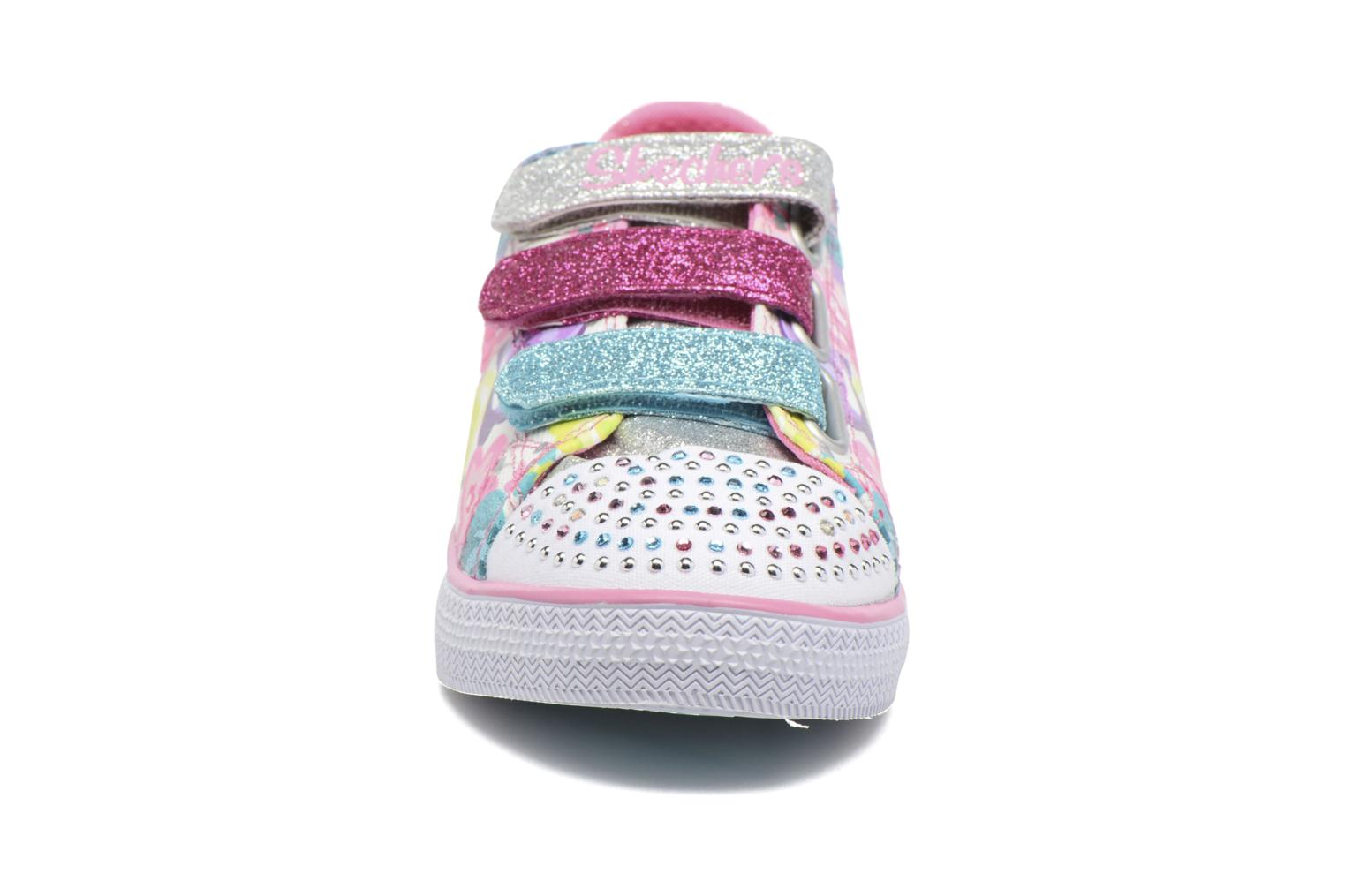 Baskets Skechers TwinkleChit Chat Glamour Glore Multicolore vue portées chaussures