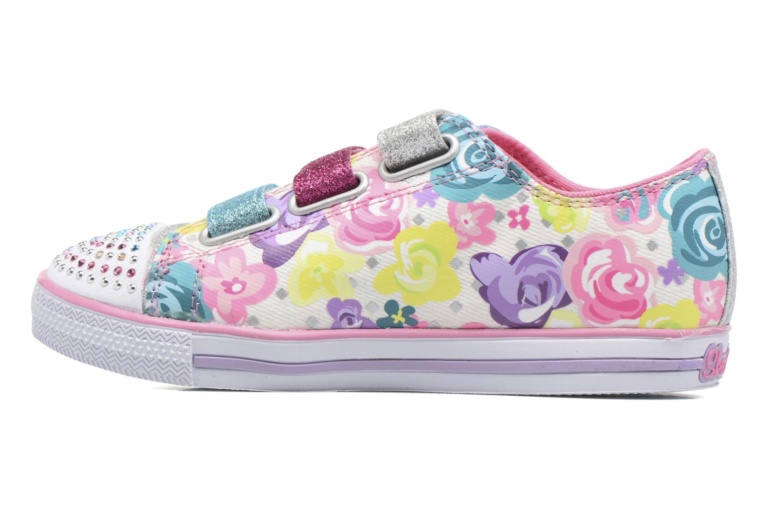 Baskets Skechers TwinkleChit Chat Glamour Glore Multicolore vue face
