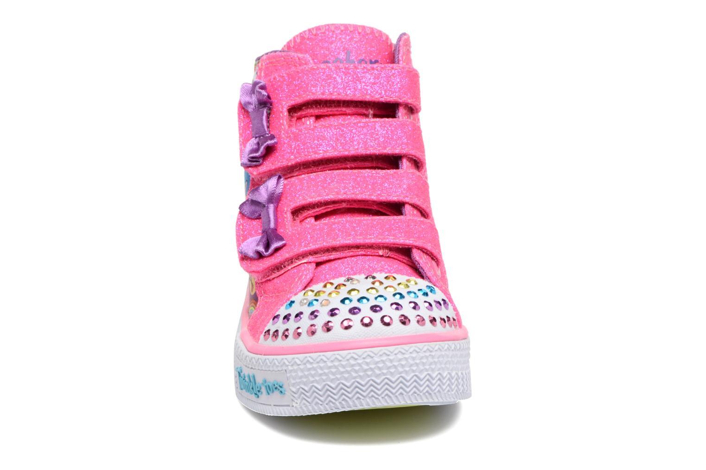 Sneakers Skechers Shuffles Baby Talk Multicolore modello indossato