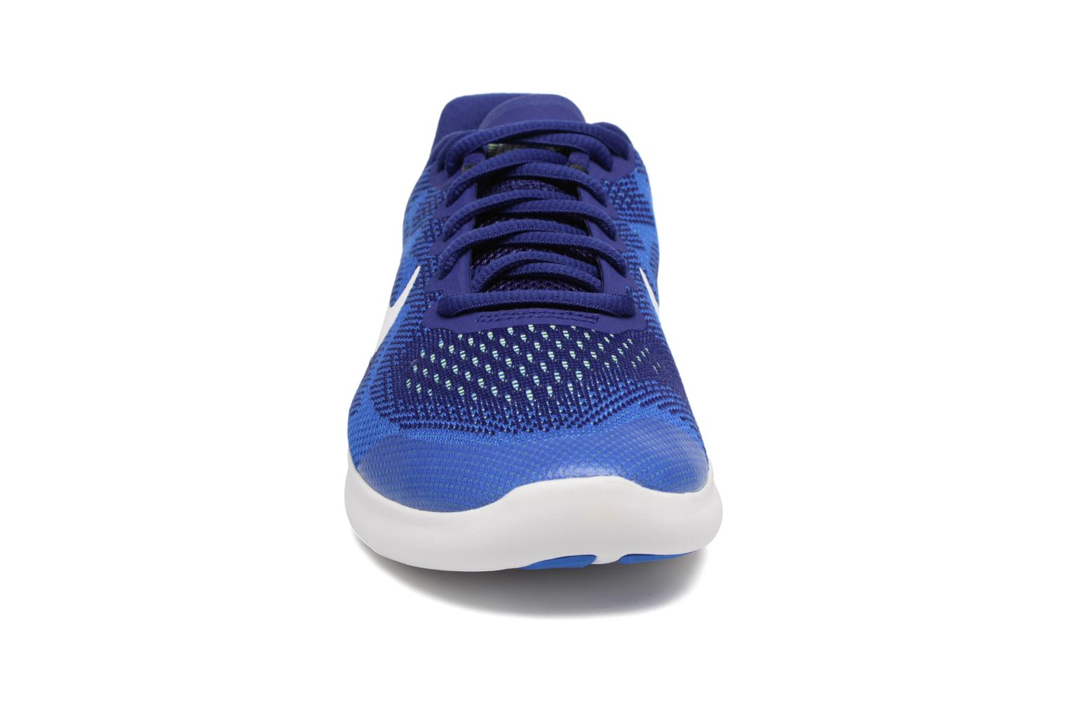 Nike Free Rn 2 (Gs) Deep Royal Blue/White-Soar-Ghost Green