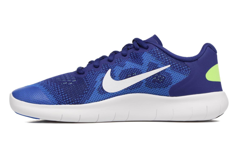 Baskets Nike Nike Free Rn 2 (Gs) Bleu vue face