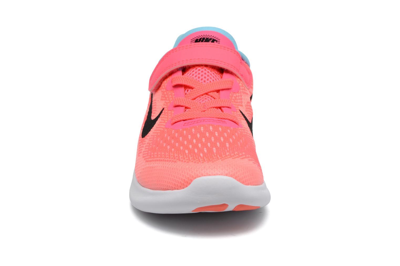 Baskets Nike Nike Free Rn 2 (Psv) Rose vue portées chaussures