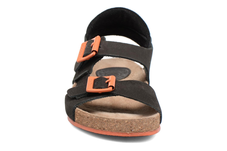 Sandales et nu-pieds Kickers Nanti Noir vue portées chaussures