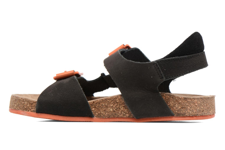 Sandales et nu-pieds Kickers Nanti Noir vue face