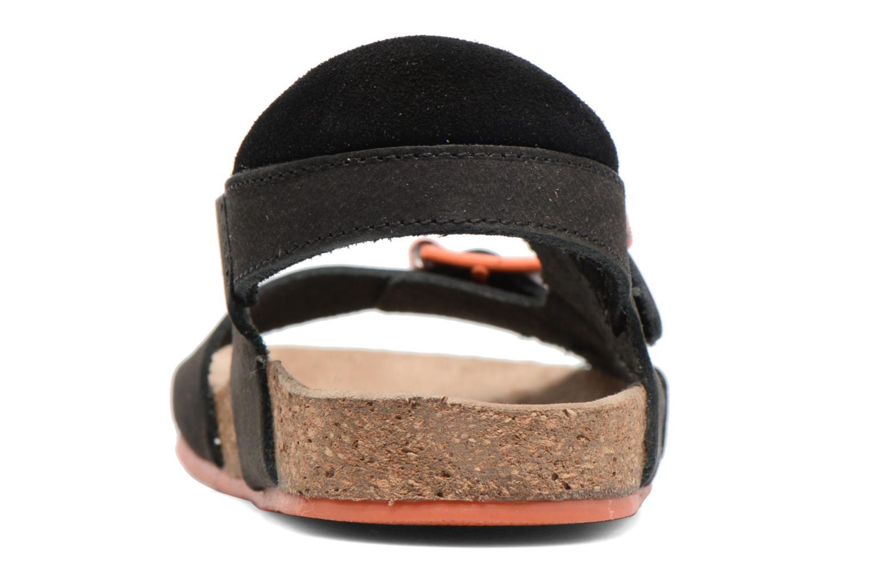 Sandales et nu-pieds Kickers Nanti Noir vue droite