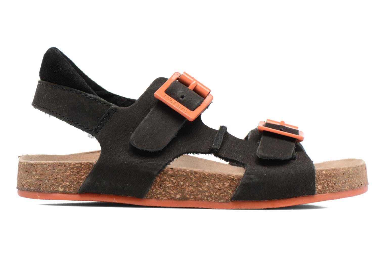 Sandales et nu-pieds Kickers Nanti Noir vue derrière