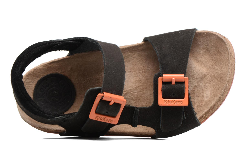 Sandales et nu-pieds Kickers Nanti Noir vue gauche