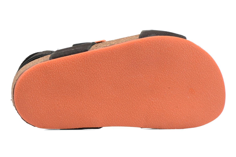 Sandales et nu-pieds Kickers Nanti Noir vue haut