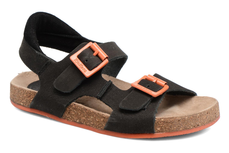 Sandales et nu-pieds Kickers Nanti Noir vue détail/paire