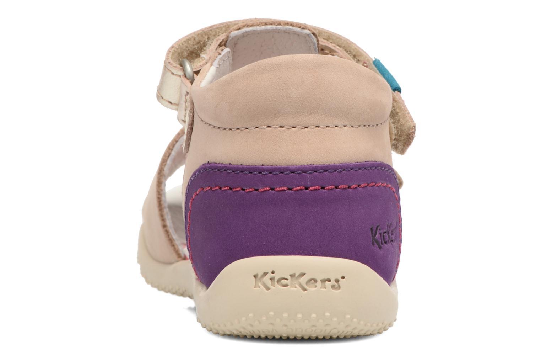 Sandali e scarpe aperte Kickers Bihilana Beige immagine destra