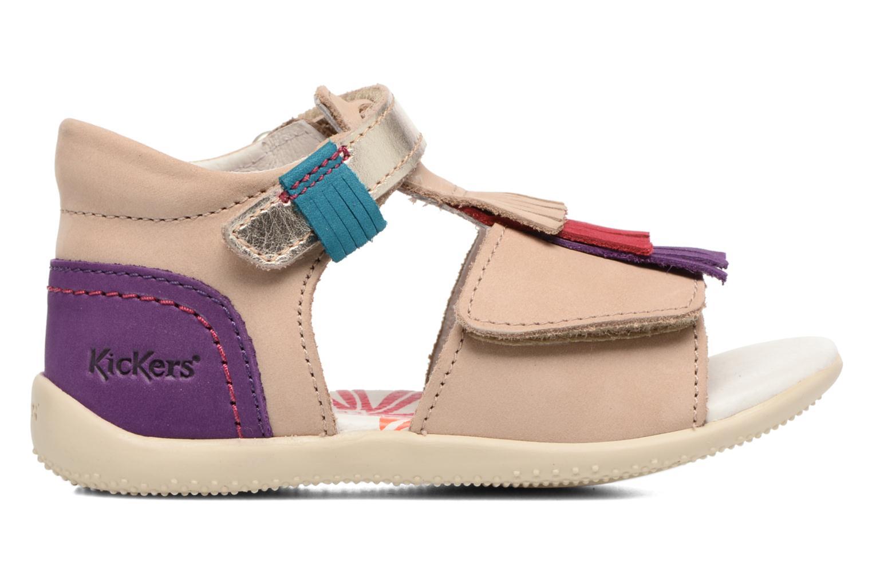 Sandalen Kickers Bihilana Beige achterkant