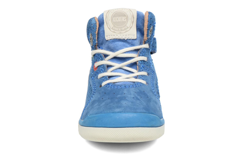 Baskets Kickers Goodjob Bleu vue portées chaussures