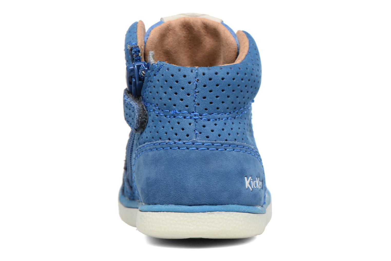 Baskets Kickers Goodjob Bleu vue droite