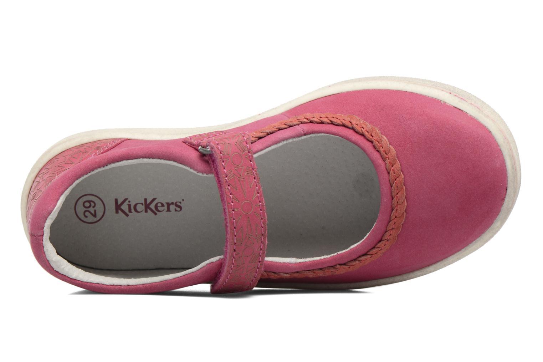 Ballerines Kickers Lydie Rose vue gauche