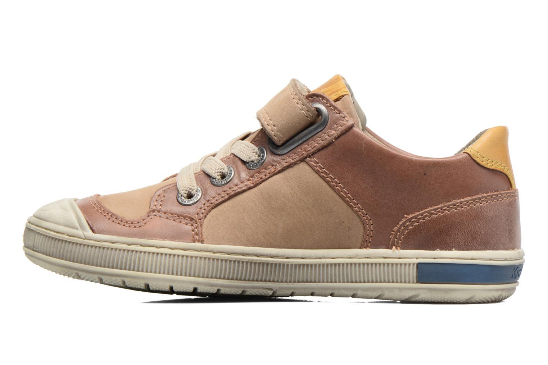 Sneakers Kickers Igorlow Beige se forfra