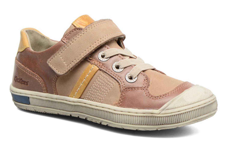 Sneakers Kickers Igorlow Beige detaljeret billede af skoene
