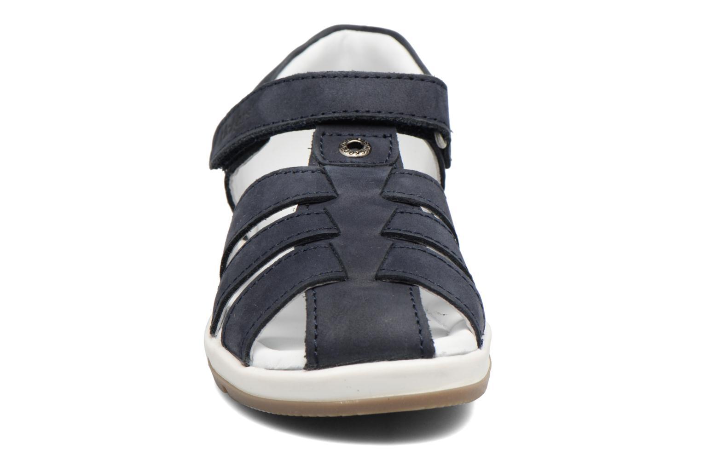 Sandales et nu-pieds Kickers Solaz Bleu vue portées chaussures