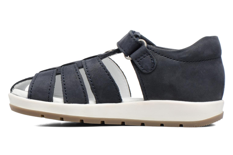 Sandalen Kickers Solaz blau ansicht von vorne