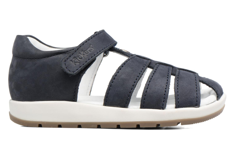 Sandalen Kickers Solaz blau ansicht von hinten