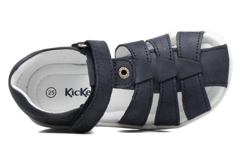 Sandales et nu-pieds Kickers Solaz Bleu vue gauche