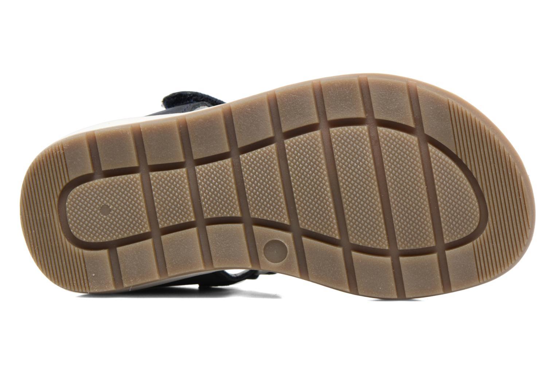 Sandales et nu-pieds Kickers Solaz Bleu vue haut