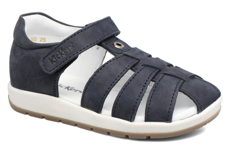 Sandales et nu-pieds Kickers Solaz Bleu vue détail/paire